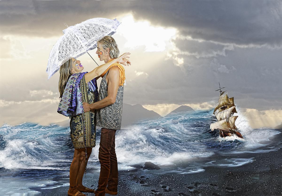 Couple sur mer dxo